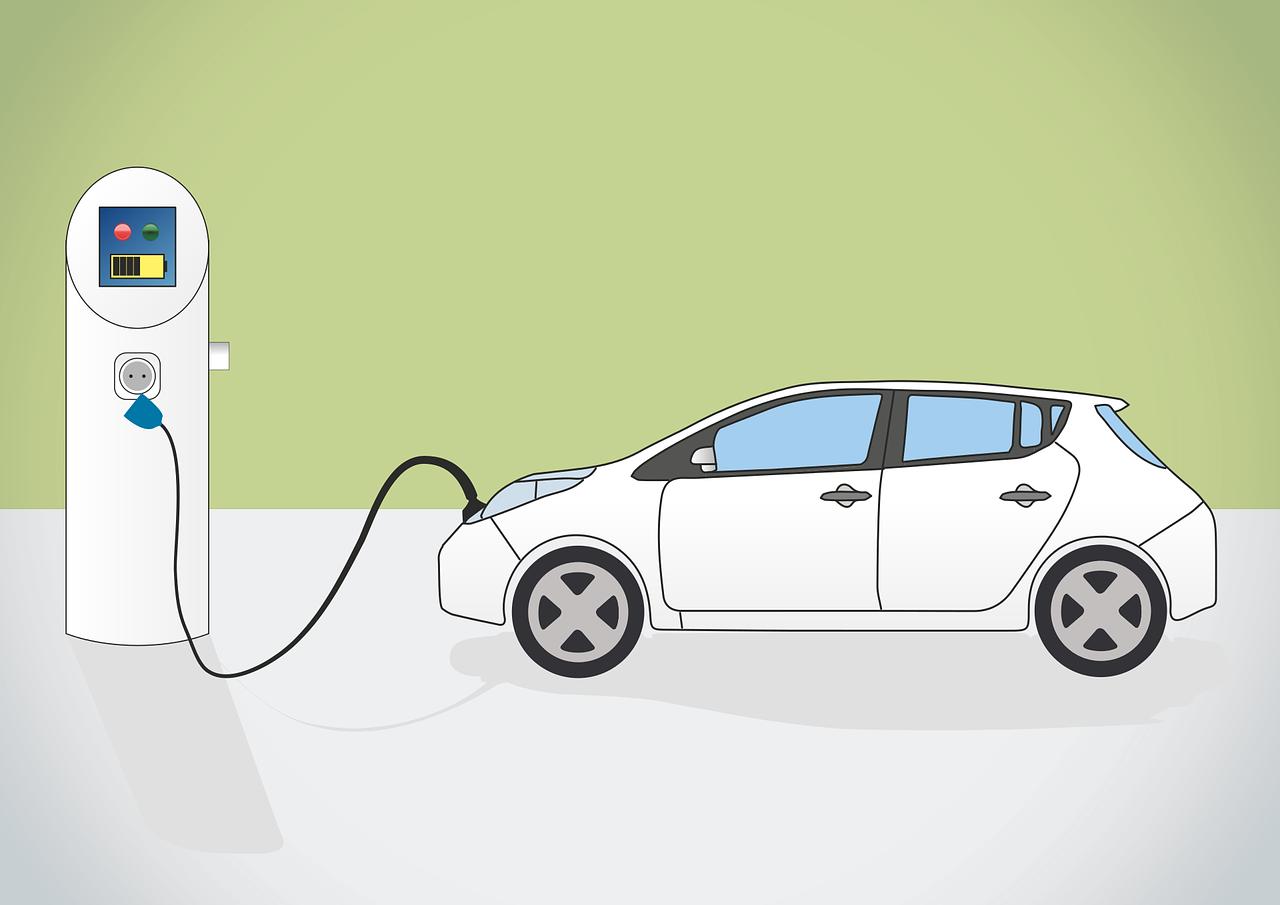 Illustration af lader til elbil